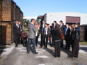 Guided visit of the cooperage Tonnellerie DEMPTOS for the 3rd year Bachelor students